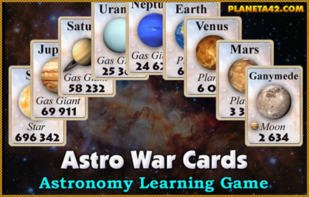 Astro War Cards Game