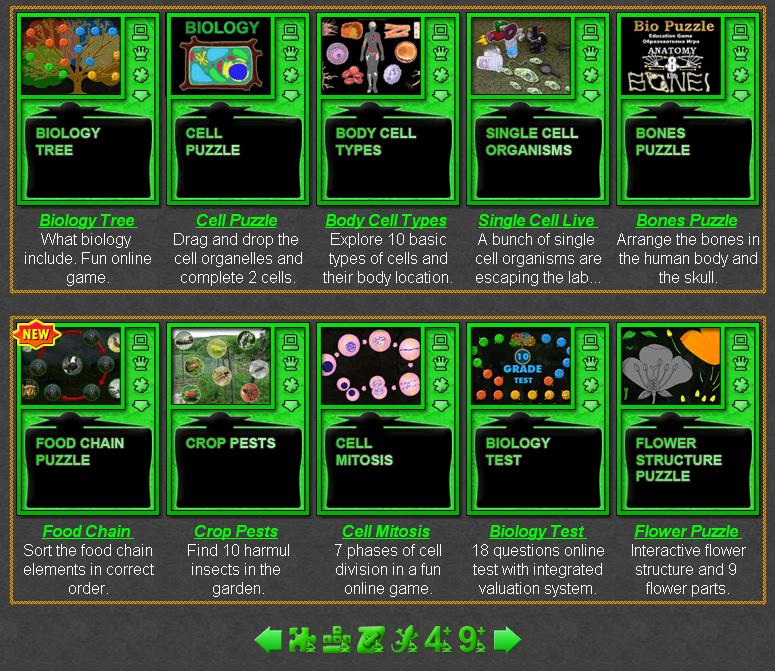 Biology Games Online Learning Games