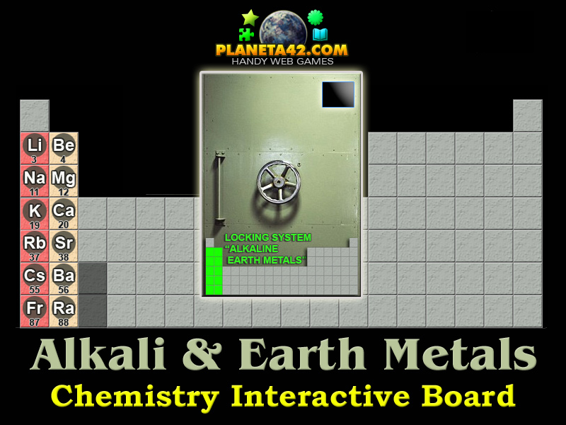 Periodic Table alkali and alkaline earth metals periodic table : Alkali and Alkaline Earth Elements | Online Chemistry Game
