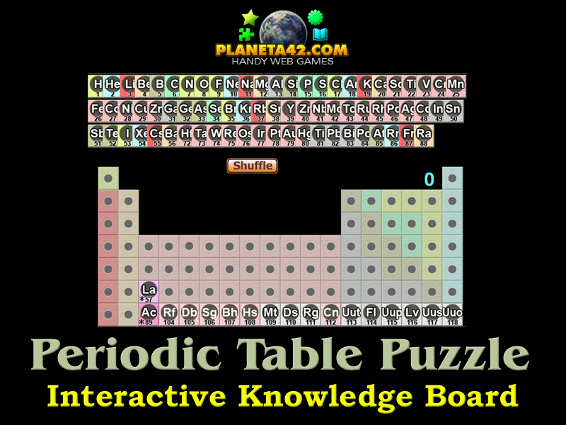 Periodic table puzzle chemistry class game periodic table picture urtaz Choice Image