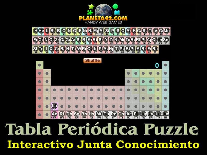 tabla peridica rompecabezas interactivo tablero conocimiento - Tabla Periodica Juegos Didacticos