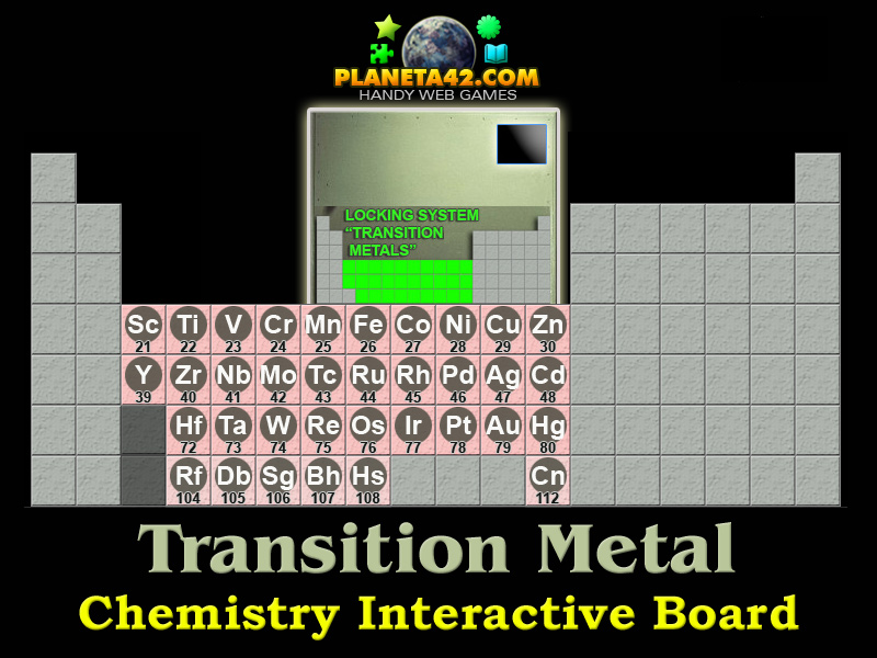 Transition Metals Chemistry Game
