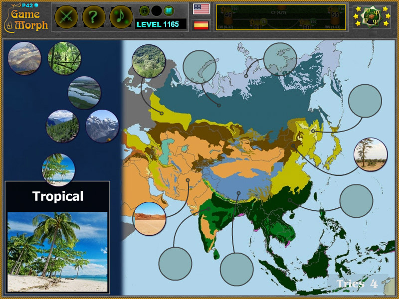 Asia Biomes Puzzle   Geography Learning Game