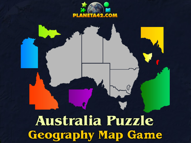 Australia Interactive Map.Australia Online Puzzle Geography Learning Game
