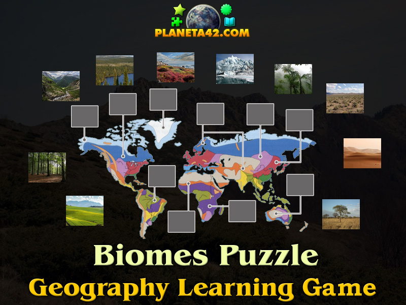 Biomes Online Puzzle Geography Learning Game - Online geography games