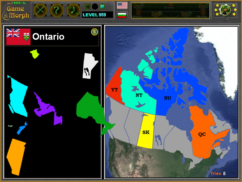 Map Of Canada Puzzle.Canada Online Puzzle Geography Learning Game