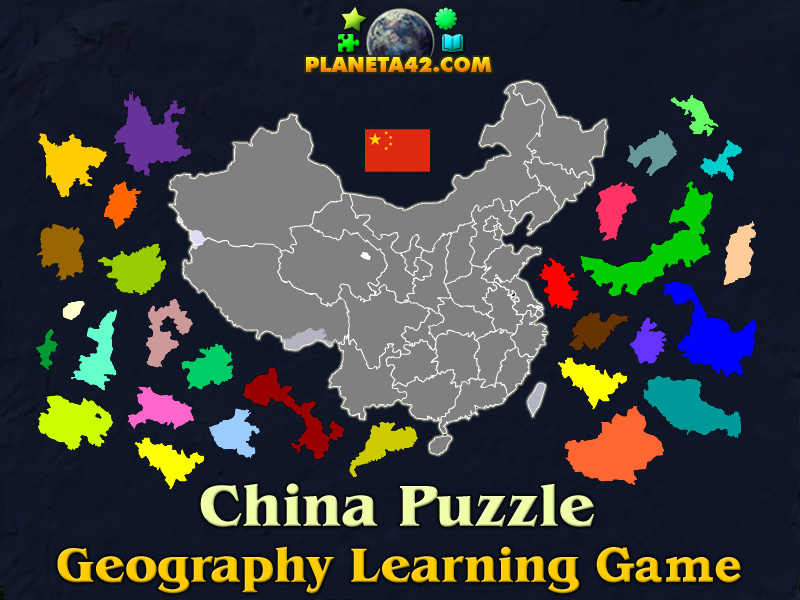 China Map Game.China Puzzle Geography Learning Game