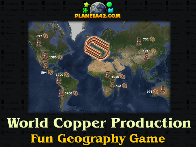 World copper production 2015 geography learning game world copper production picture gumiabroncs Choice Image