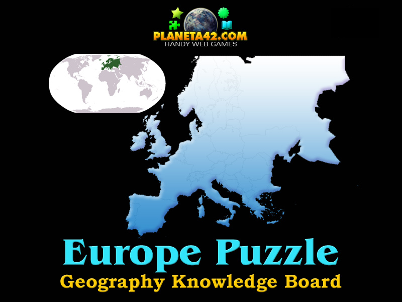 Europe Puzzle Online Geography Game - Online geography games