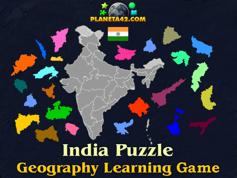 India puzzle geography learning game india puzzle picture gumiabroncs Choice Image