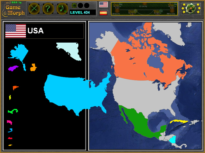 North America Puzzle 2016 Geography Learning Game
