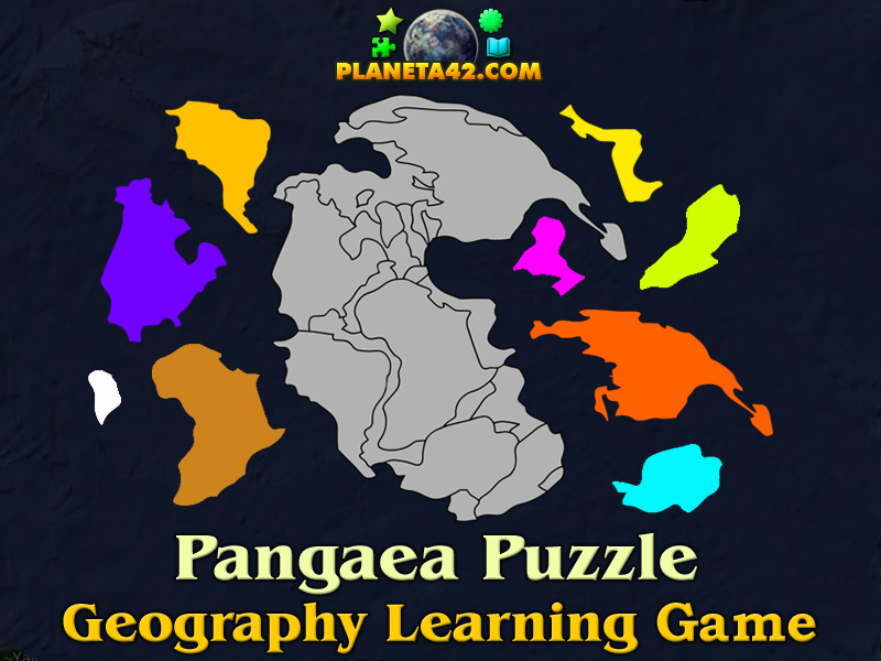 Pangaea Online Puzzle | Geography Learning Game