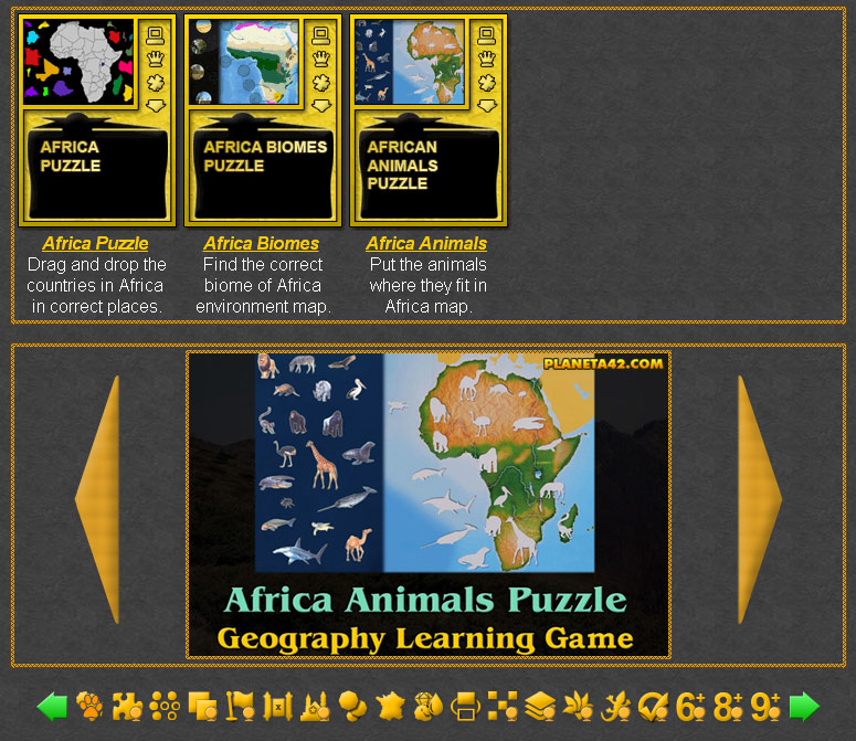 Africa Games Geography Learning Games