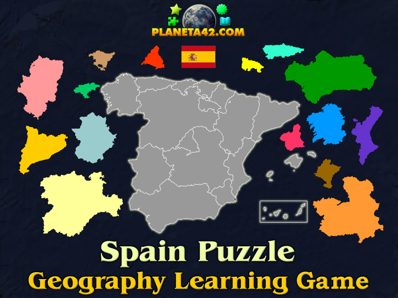 Spain puzzle geography learning game spain puzzle picture gumiabroncs Choice Image