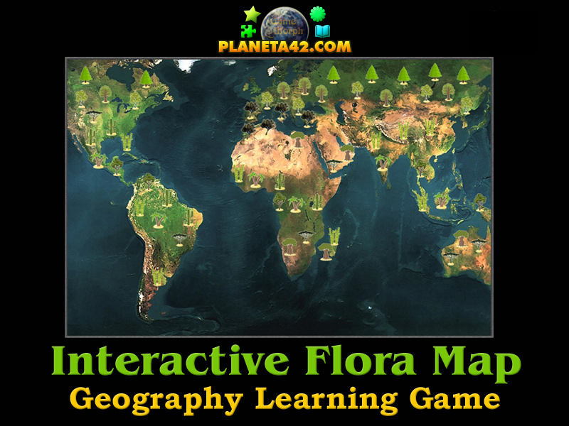 World flora map explorer geography learning game world flora map explorer picture gumiabroncs Image collections