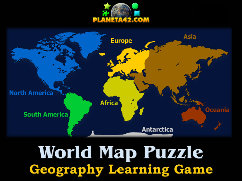 World map puzzle geography learning game world map puzzle picture gumiabroncs Image collections