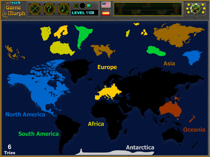 World Map Puzzle Geography Learning Game