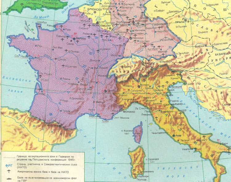 Map Of France Germany.Uk France Germany And Italy After Ww 2 Hd Maps