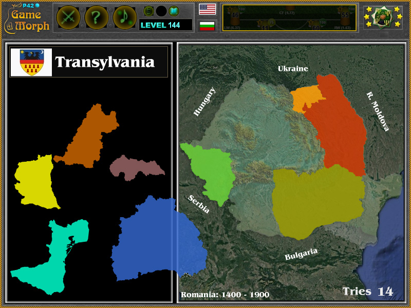 Romania Regions Puzzle History Learning Game