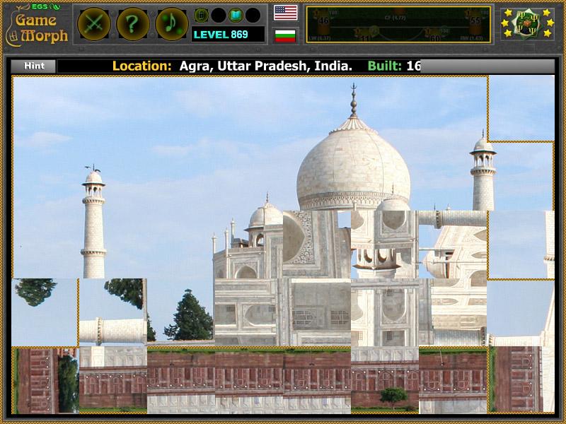 Taj Mahal Online Puzzle World Wonders Puzzle
