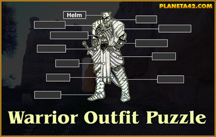 Warrior Outfit Words Puzzle
