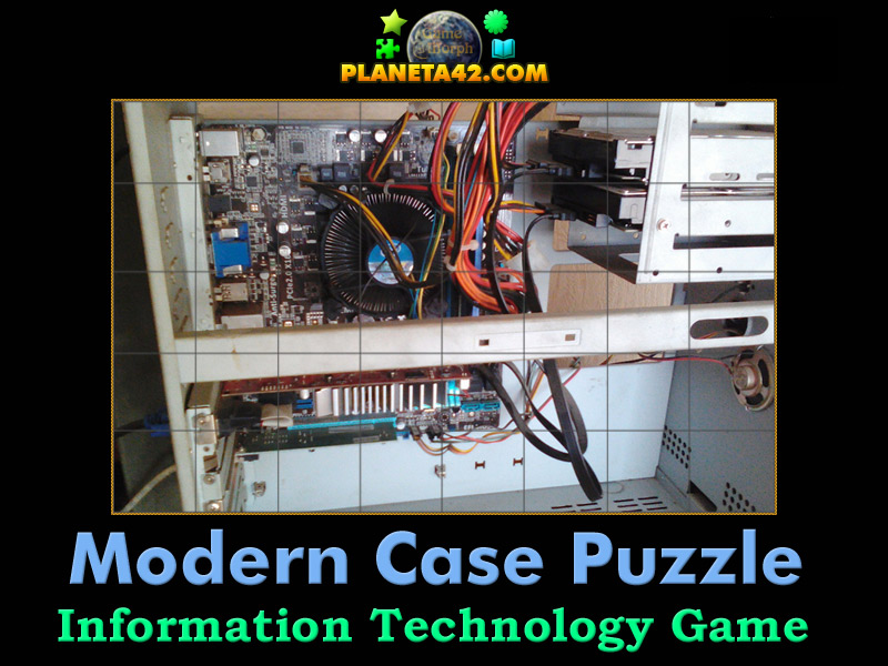 Modern Classroom Game : Modern computer case puzzle it class game