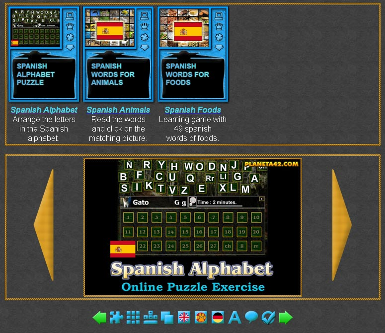spanish learning games online language games