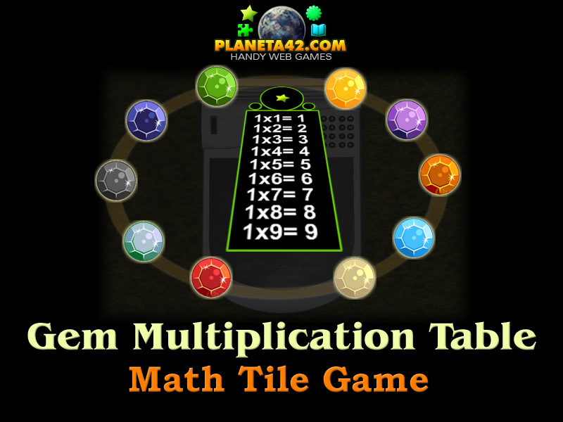 ... multiplication table is there a colorful table of multiplication is 6