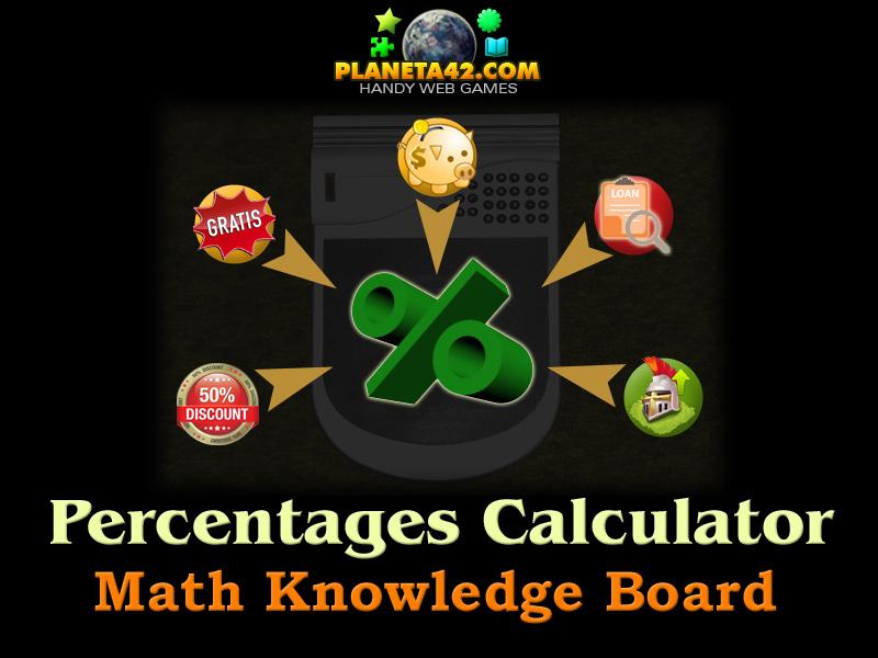 Percentage Calculator | Online Math Game