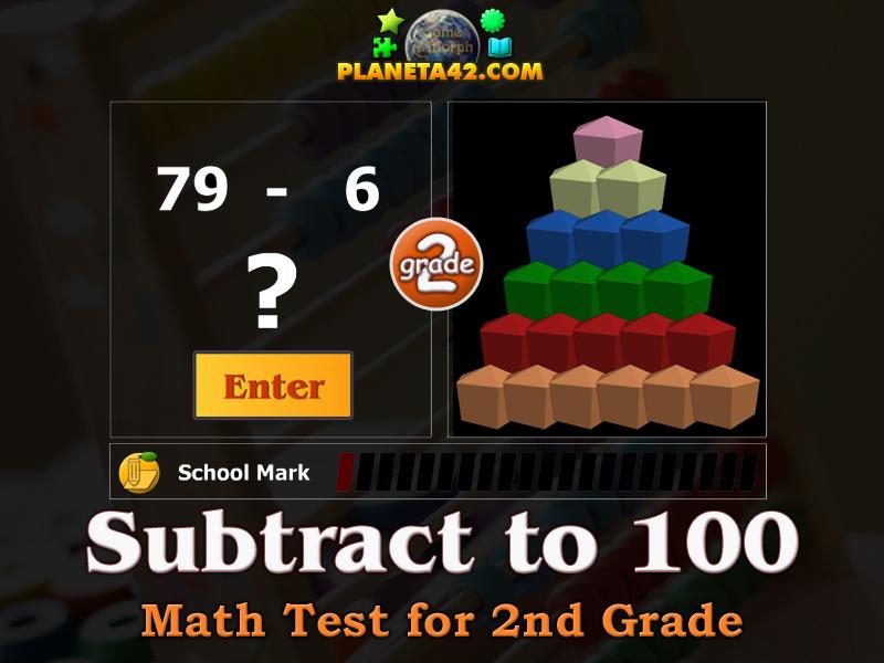 Math Test 2 Grade - Subtraction to 100 | Online Test