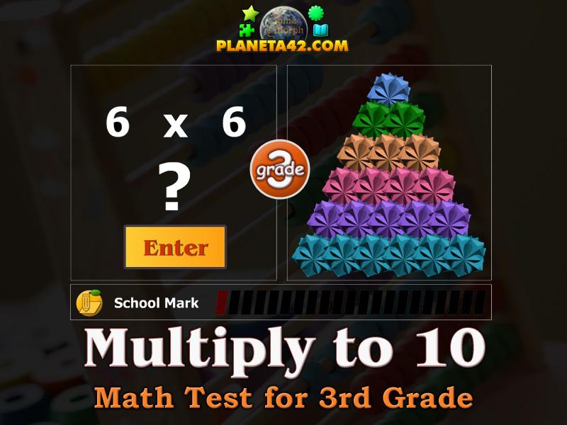 Math Test For 3 Grade Multiplication To 10 Online Test