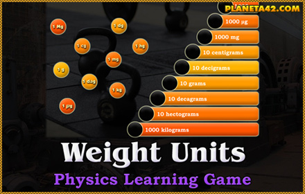 Weight Units Game