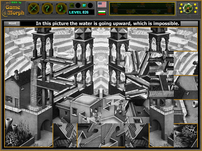 Optical Illusions Square Escher's Impossible Wa...