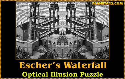 Escher's Impossible Waterfall