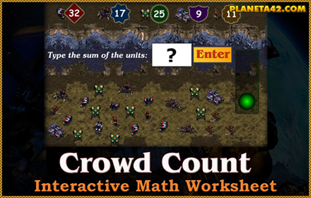 Crowd Count Math Worksheet
