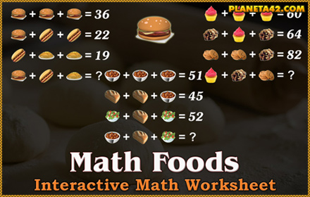 Math Foods Game