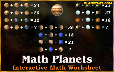 Math Planets Game