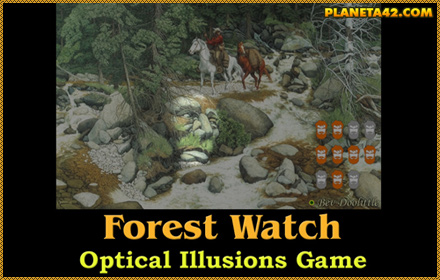 Forest Watch Optical Illusion